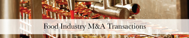 Food and Beverage M&A Transactions Header