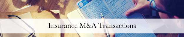 Insurance Industry M&A Transactions Header