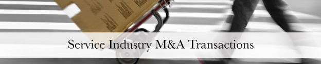 Service Industry M&A Transactions Header