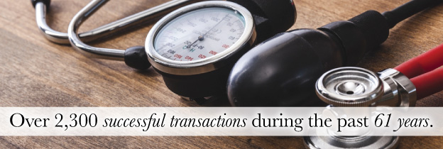 Over 2,300 successful transactions during the last 61 years.