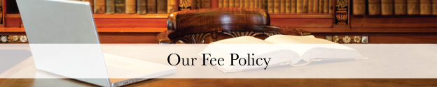 Our Fee Policy Header