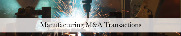 Manufacturing M&A Transactions Header
