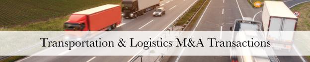 Transportation M&A Transactions Header